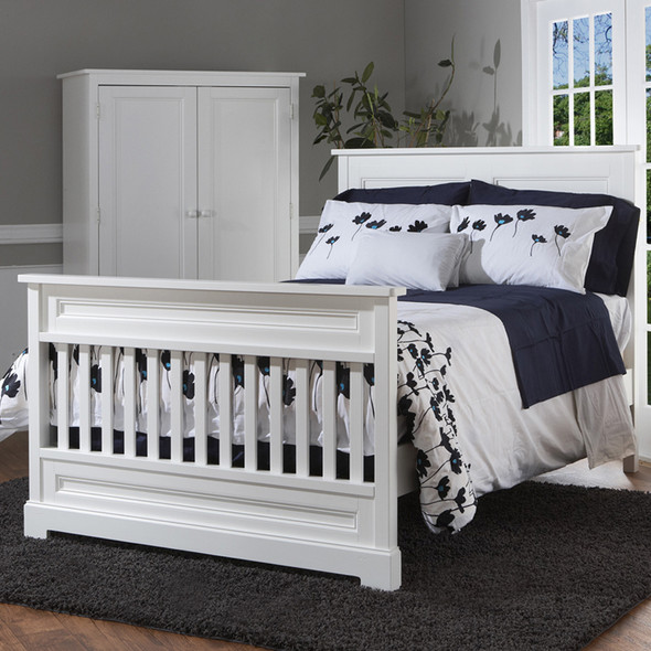 Pali Aria Collection Full Size Rails in White