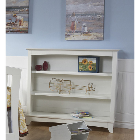 Pali Aria Collection Bookcase Hutch in White