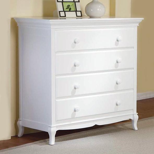 Pali Mantova Collection 4 Drawer Dresser in White