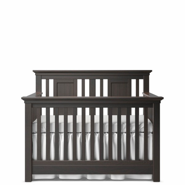 Romina Karisma Collection Convertible Crib with Slatted Panel in Bruno Rosso
