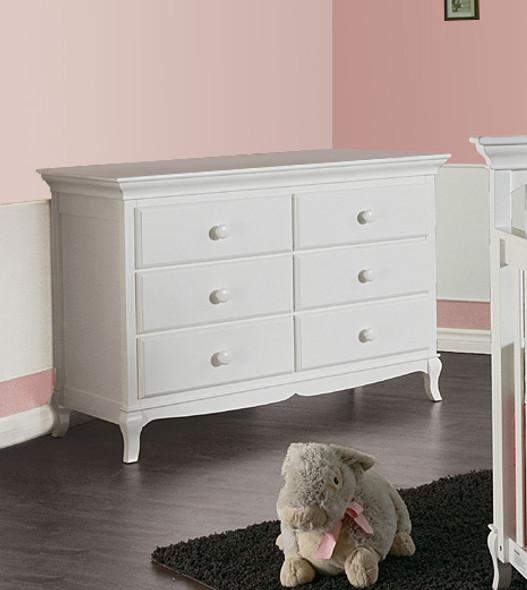 Pali Mantova Collection Double Dresser in White