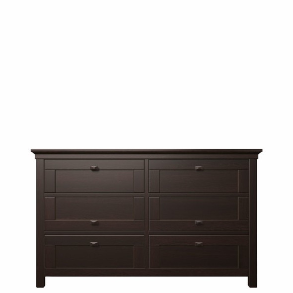 Romina Karisma Collection Six Drawers Dresser in Bruno Rosso