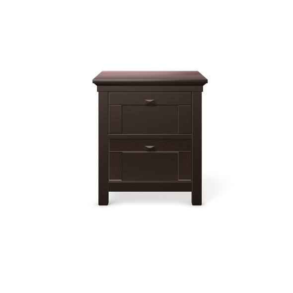 Romina Karisma Collection Two Drawers Nightstand in Bruno Rosso