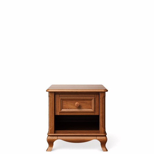 Romina Antonio Collection One Drawer Nightstand in Bruno Antico