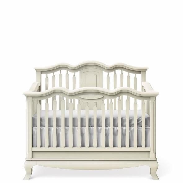 Romina Cleopatra Collection Convertible Crib in Bianco Satinato