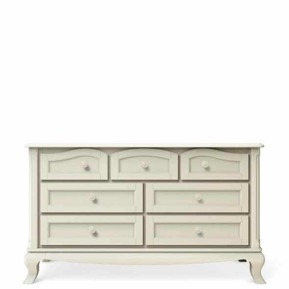 Romina Cleopatra Collection Seven Drawer Dresser in Bianco Satinato