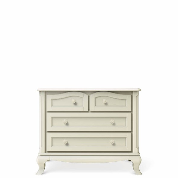 Romina Cleopatra Collection Four Drawers Chest in Bianco Satinato