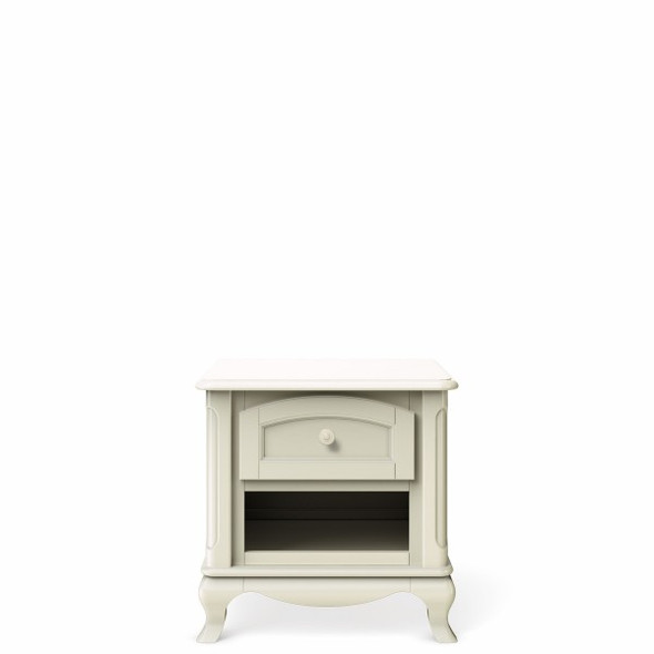 Romina Cleopatra Collection Nightstand in Bianco Satinato