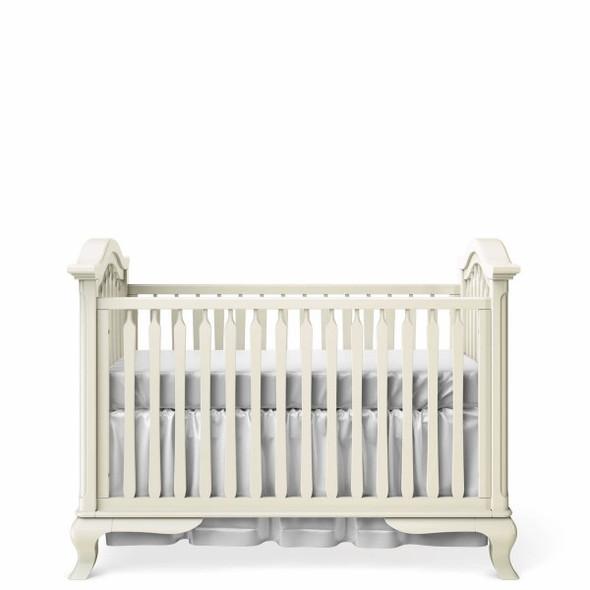 Romina Cleopatra Collection Classic Crib in Bianco Satinato
