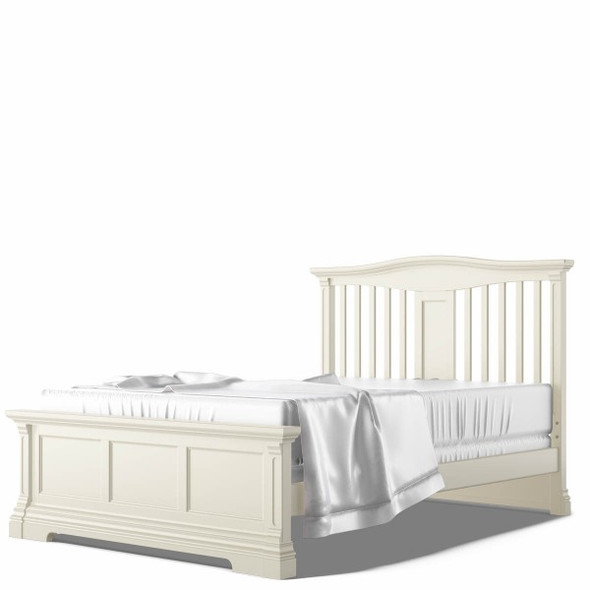 Romina Imperio Collection Full Bed with Slatted Headboard in Bianco Satinato