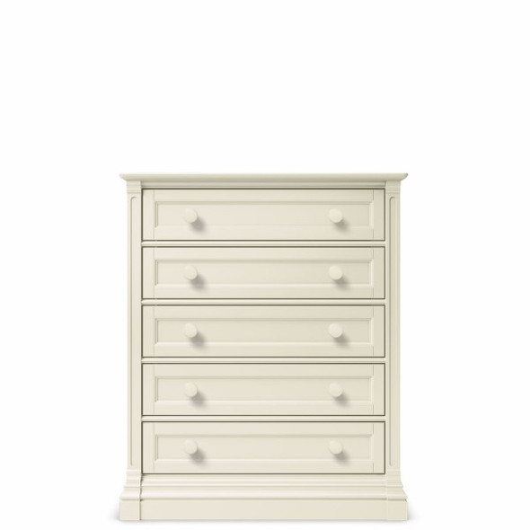 Romina Imperio Collection 5 Drawer Chest in Bianco Satinato