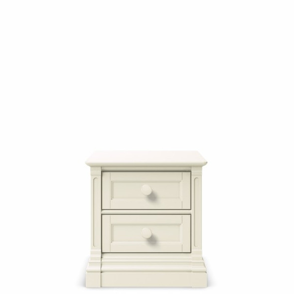 Romina Imperio Collection Nightstand in Bianco Satinato