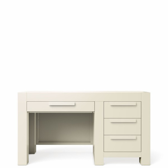 Romina Ventianni Collection Four Drawers Desk in Bianco Satinato