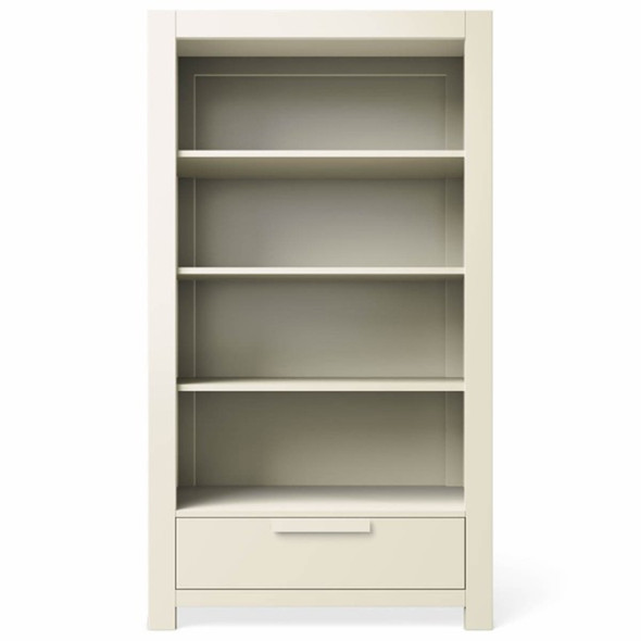 Romina Ventianni Collection One Drawer Bookcase in Bianco Satinato