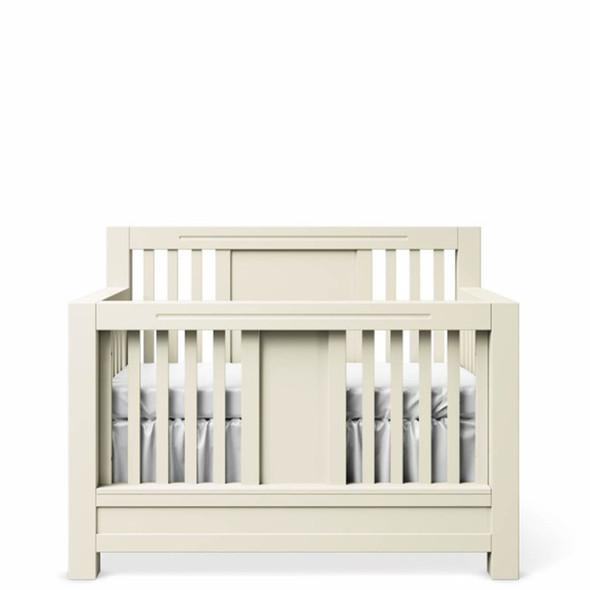 Romina Ventianni Collection Convertible Crib in Bianco Satinato