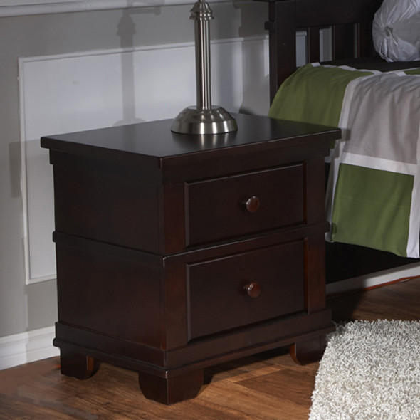 Pali Torino Collection Nightstand in Mocacchino