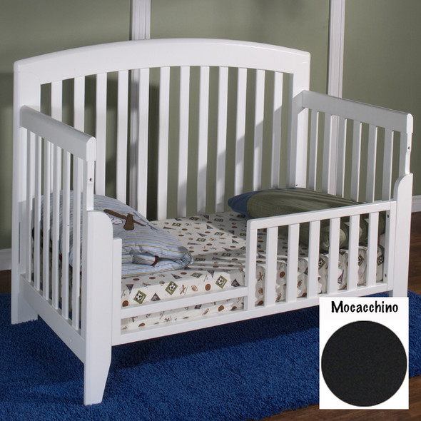 Pali Gala Collection toddler rail for Forever crib in Mocacchino