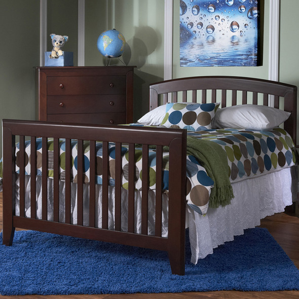 Pali Gala Collection Universal Rail for Forever crib in Mocacchino