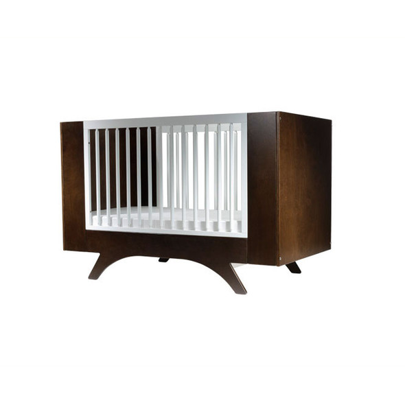 Dutailier Melon Crib - Two Tone - Coffee and White