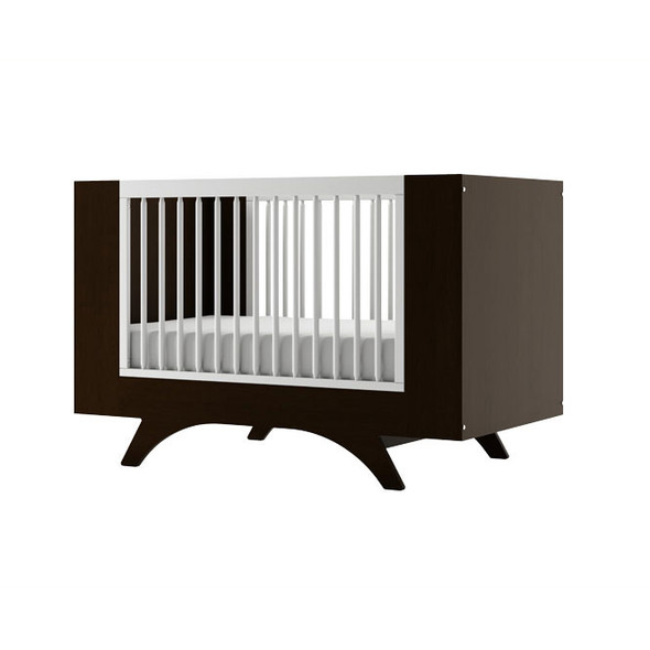 Dutailier Melon Crib - Two Tone - Espresso and White