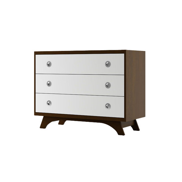 Dutailier Melon Dresser - Coffee and White