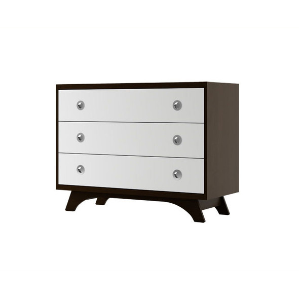 Dutailier Melon Dresser - Espresso and White