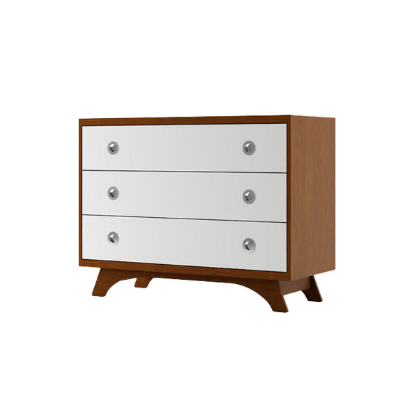 Dutailier Melon Dresser - Harvest and White