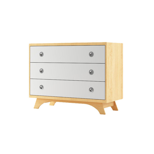 Dutailier Melon Dresser - Natural and White