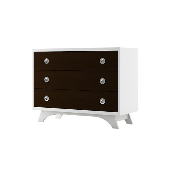 Dutailier Melon Dresser - White and Espresso