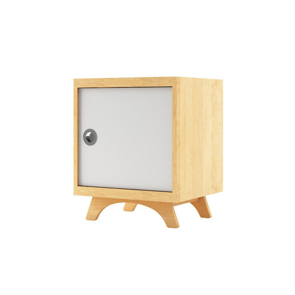 Dutailier Melon Night Stand -  Natural and White