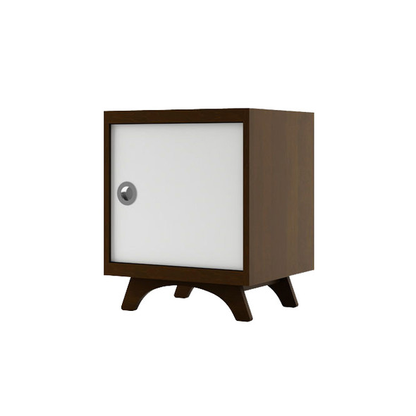Dutailier Melon Night Stand - Coffee and White