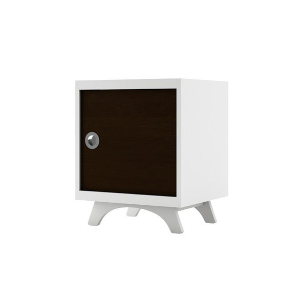 Dutailier Melon Night Stand - White and Espresso