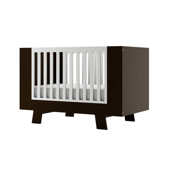 Dutailier Pomelo Crib - Espresso and White