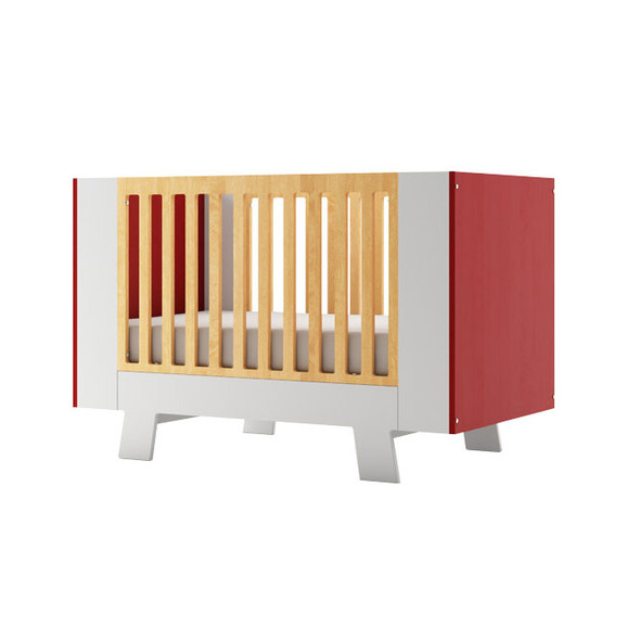 Dutailier Pomelo Crib - Red and White