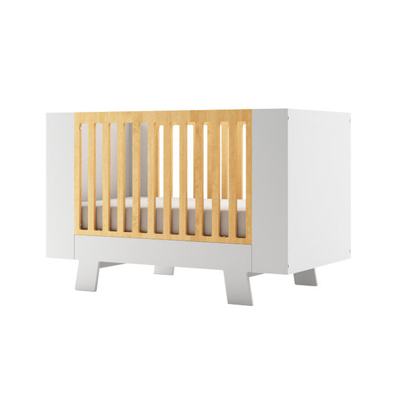 Dutailier Pomelo Crib - White and Natural