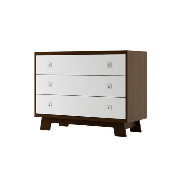 Dutailier Pomelo Dresser - Coffee and White