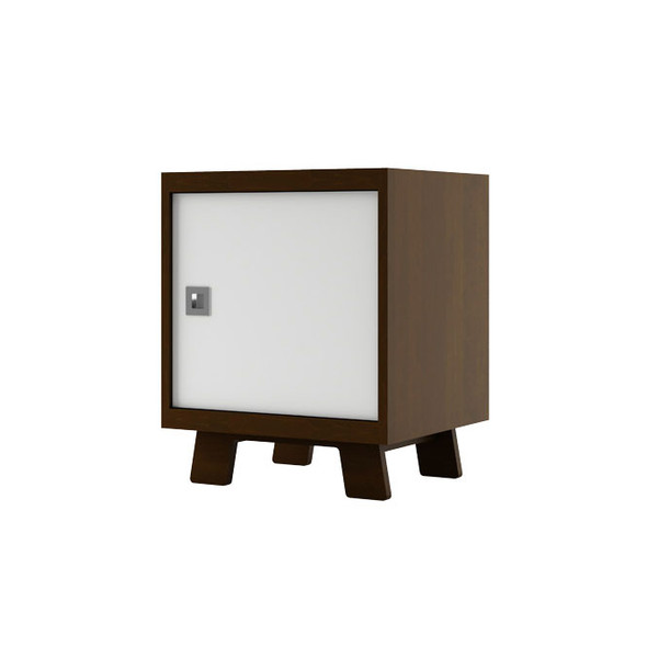 Dutailier Pomelo Night Stand - Coffee and White