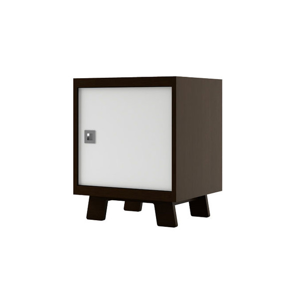 Dutailier Pomelo Night Stand - Espresso and White