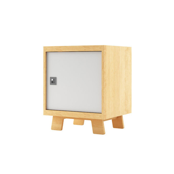 Dutailier Pomelo Night Stand - Natural and White