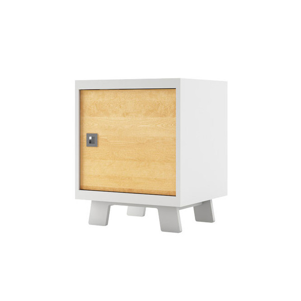 Dutailier Pomelo Night Stand - White and Natural