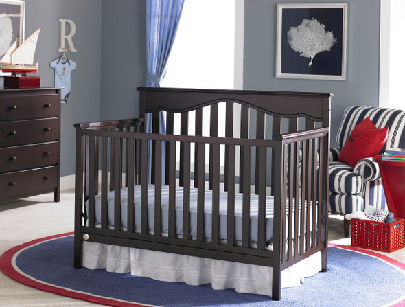 Fisher Price Ayden Convertible Crib in Espresso