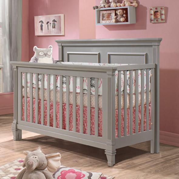 Natart Belmont Convertible Crib in Stone Grey