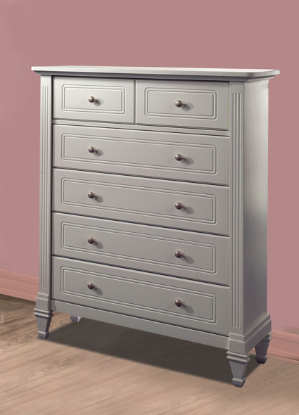 Natart Belmont 5 Drawer Dresser in Stone Grey