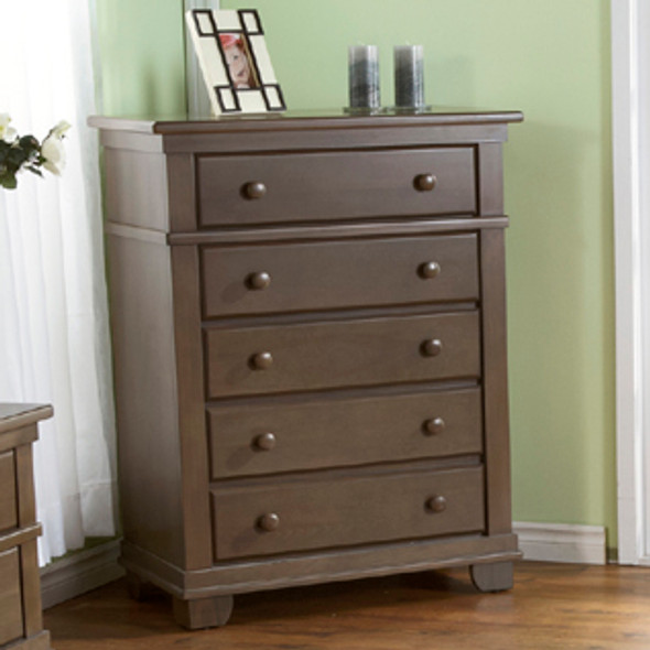 Pali Torino Collection 5 Drawer Dresser in Slate