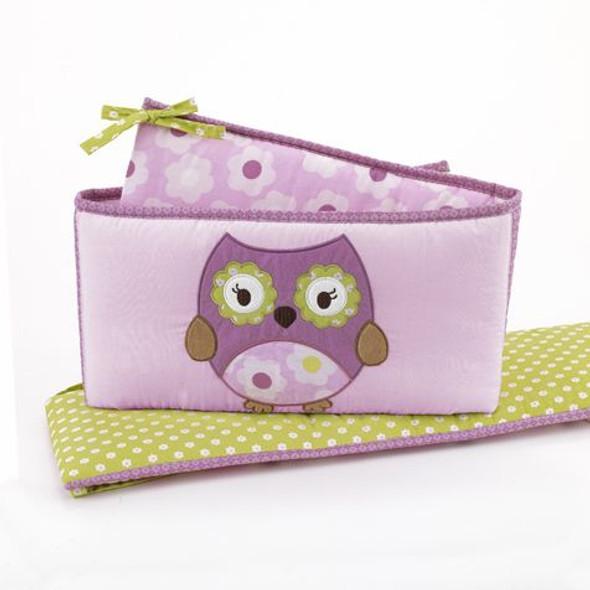 CoCo and Company Owl Wonderland Crib Bumper
