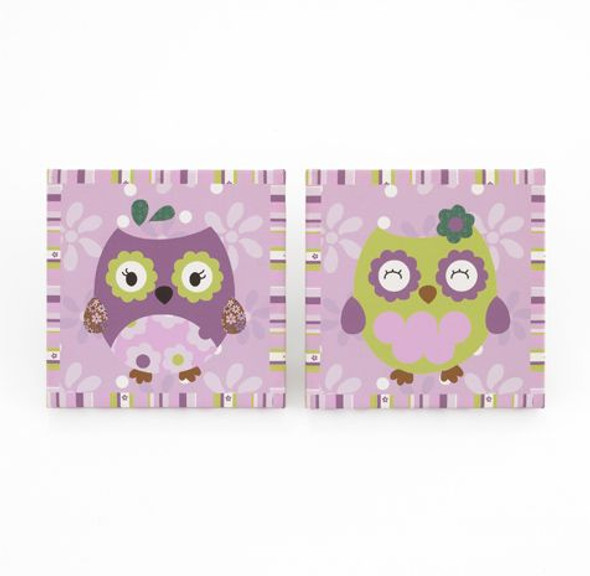 CoCo and Company Owl Wonderland 2 pc Wall Art