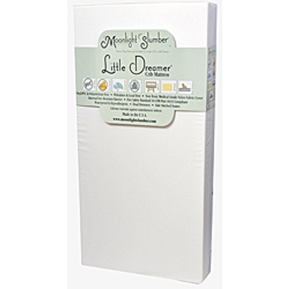 Moonlight Slumber Little Dreamer All Foam Crib Mattress - Dual Firmness