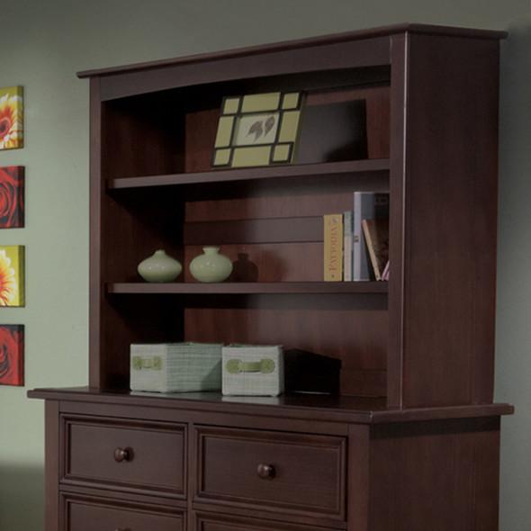 Pali Gala Collection Bookcase Hutch in Mocacchino