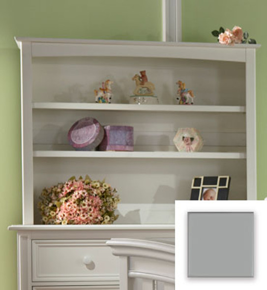 Pali Marina Collection Bookcase Hutch in Slate