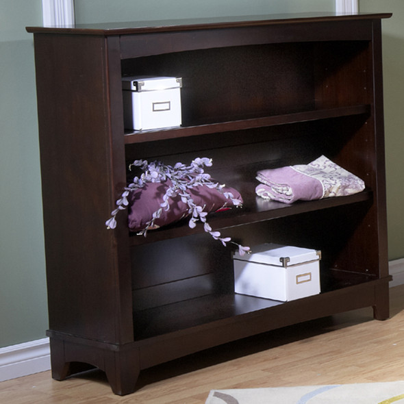 Pali Gardena Collection Bookcase Hutch in Mocacchino
